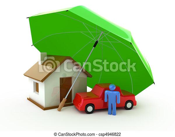 vita, casa, assicurazione, auto - csp4946822