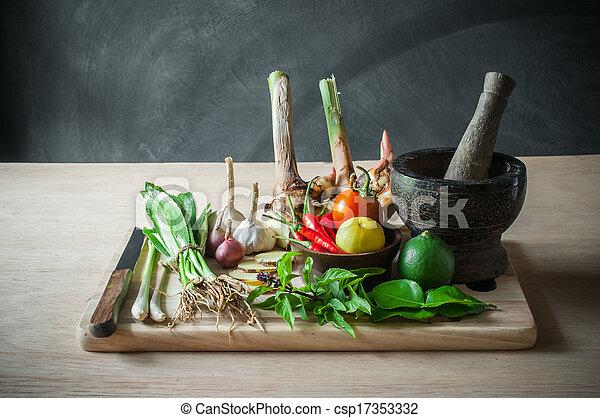 vita, cibo, attrezzo, oggetto, verdura, ancora, cucina - csp17353332