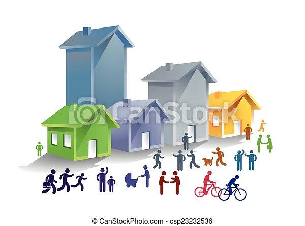 vita, comunità - csp23232536
