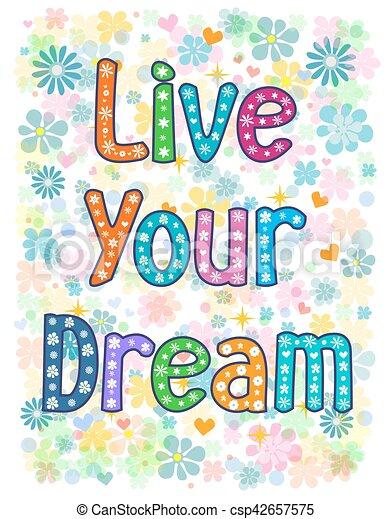 vivere, sogno, tuo - csp42657575