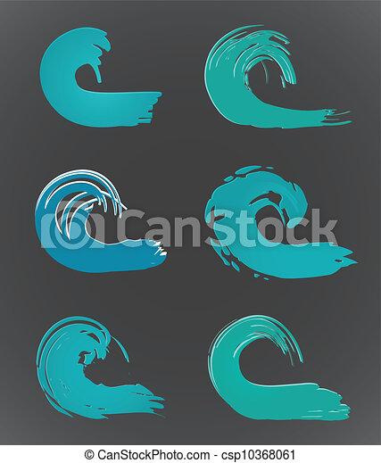 wave., vettore, set - csp10368061