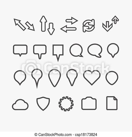 web, differente, collezione, icone - csp18173824