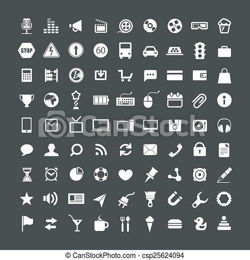 web, domanda, collezione, icone - csp25624094