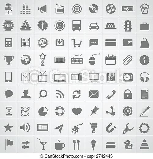 web, domanda, collezione, icone - csp12742445