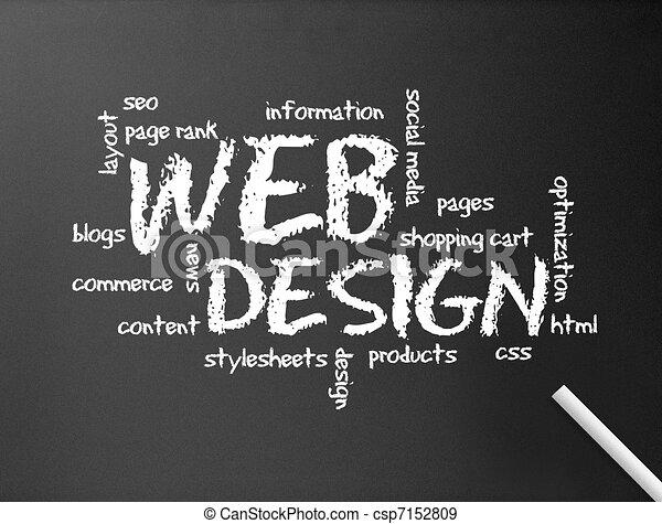 web, lavagna, -, disegno - csp7152809