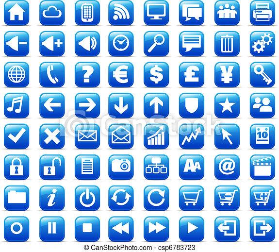 web, &, media, bottoni, internet, nuovo - csp6783723