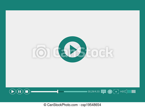 web, mobile, media, apps, giocatore, video - csp19548654