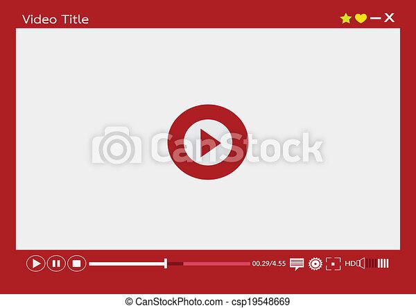 web, mobile, media, apps, giocatore, video - csp19548669