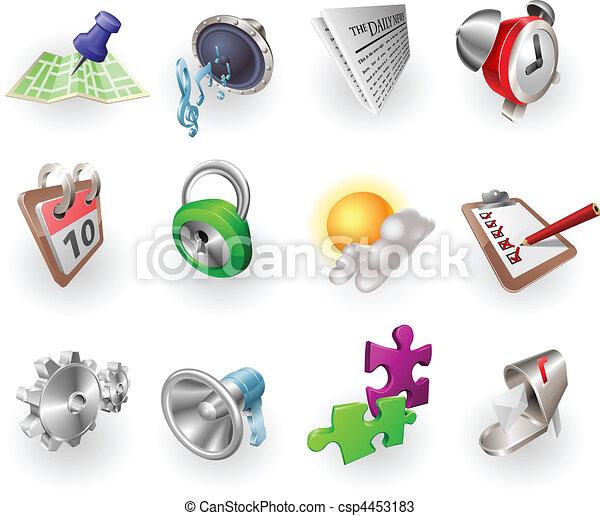 web, set, colore, dinamico, domanda, icona - csp4453183