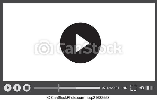 web, sfondo bianco, giocatore - csp21632553